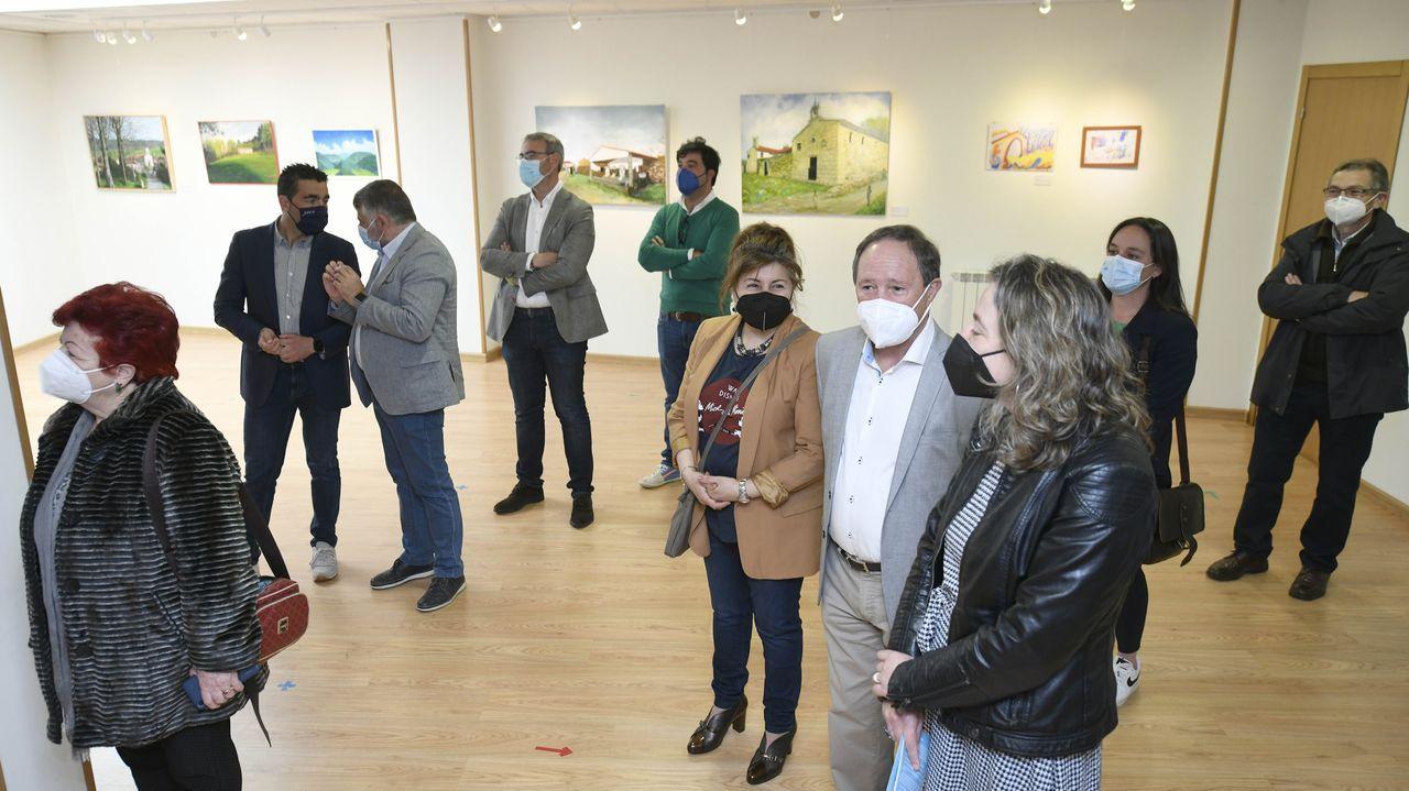 Los patrocinadores del Xacobeo, junto con responsables de la Xunta, en el acto celebrado en la Cidade da Cultura