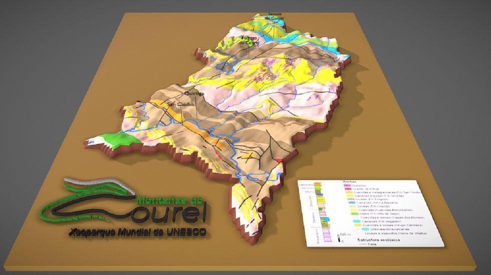 El mapa en relieve del territorio del geoparque puede verse en el portal digital Skechtfab
