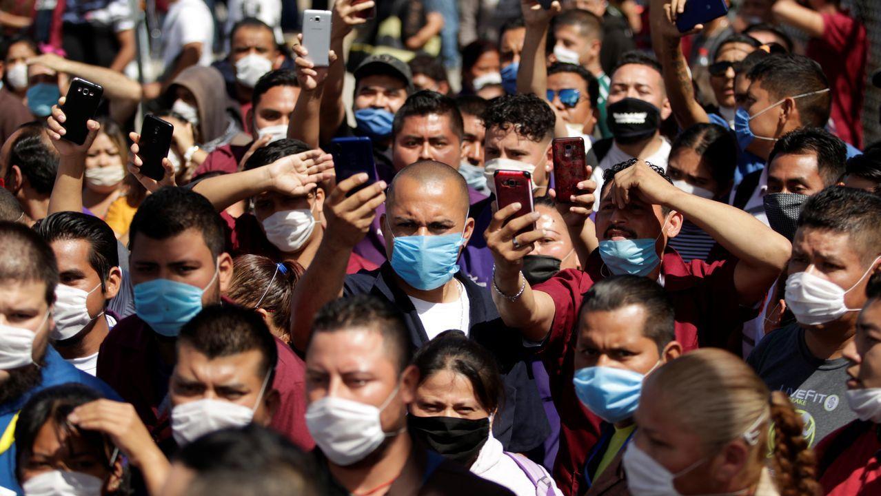 Trabajadores de una empresa mexicana se manifiestan