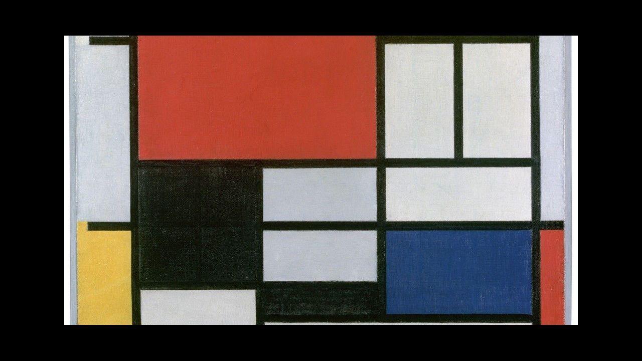Un millon de piezas de colores, seis detallados mundos.«Composición en rojo, amarillo, azul y negro», 1926. Piet Mondrian. Gemeentemuseum (La Haya)