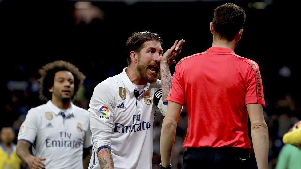 Sergio Ramos alude a Piqué en la polémica arbitral