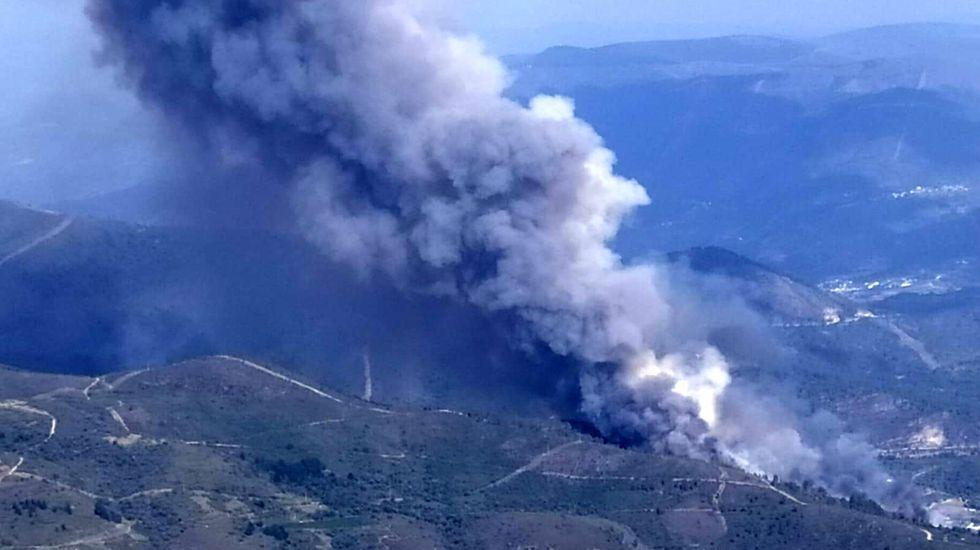 El incendio que se produjo en la parroquia de Montefurado a finales de julio quemó unas 150 hectáreas