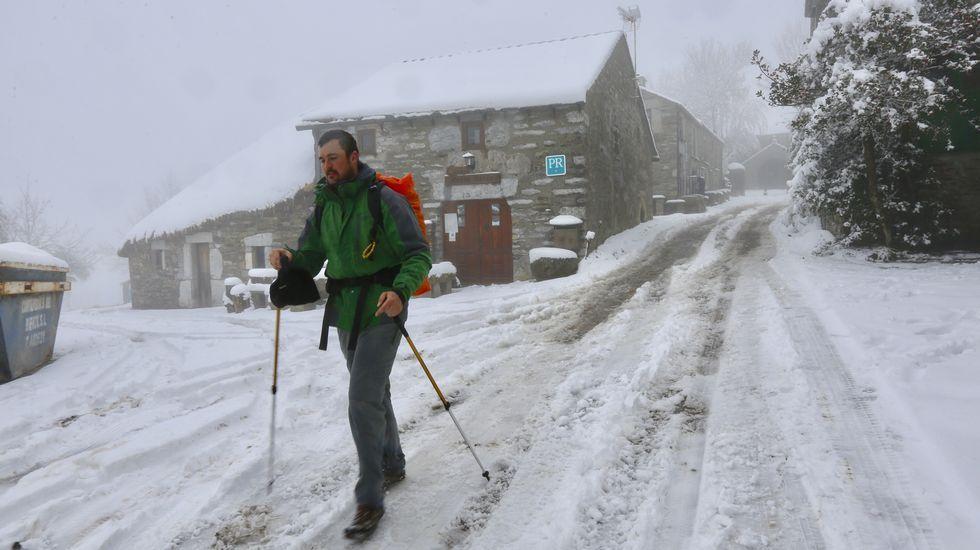 La nieve vuelve a O Cebreiro