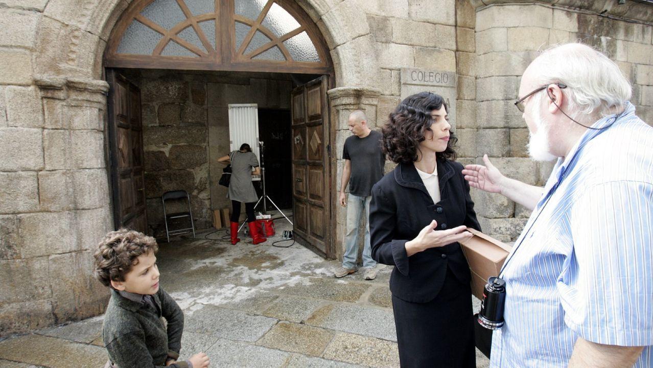 Primer día de rodaje de «Los girasoles ciegos» en Ourense.