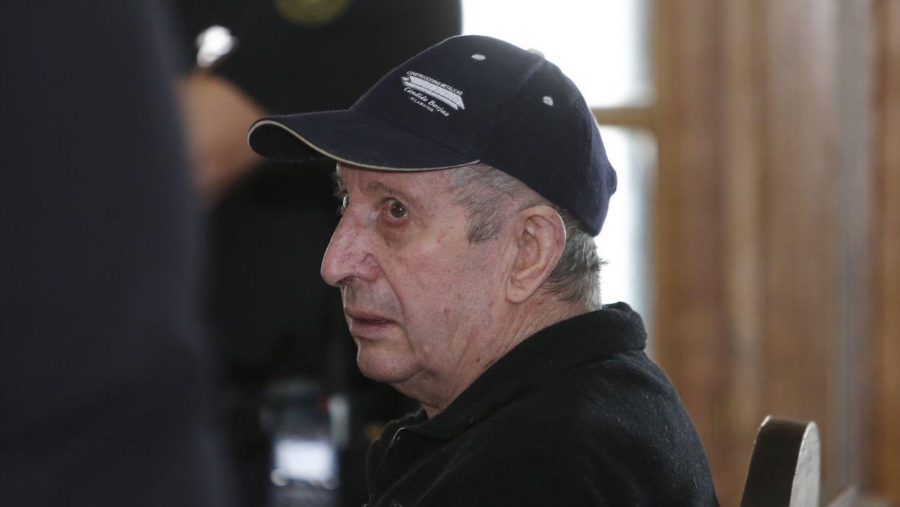 Aniceto Rodríguez durante el juicio por el asesinato de su esposa