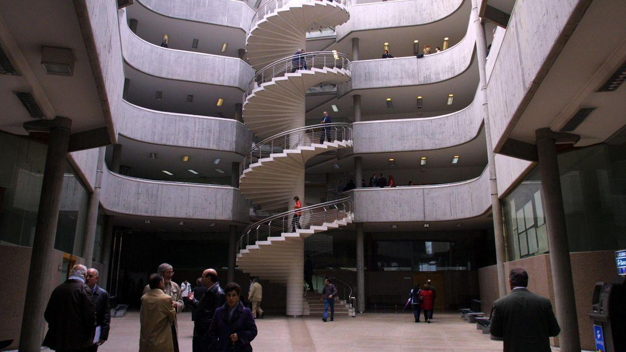 Edificio de Nuevos Juzgados en la calle Monforte de A Coruña