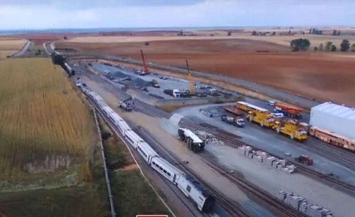 El accidente del Alvia en La Hiniesta motivó el corte de la línea hasta el día 25