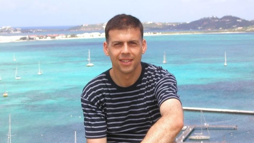 Bernardino González durante unas vacaciones en el Caribe en el 2004