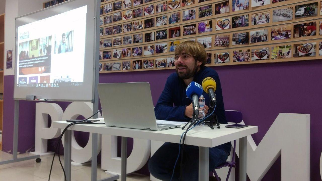Agustín Iglesias Caunedo, en una junta local del PP de Oviedo.Daniel Ripa