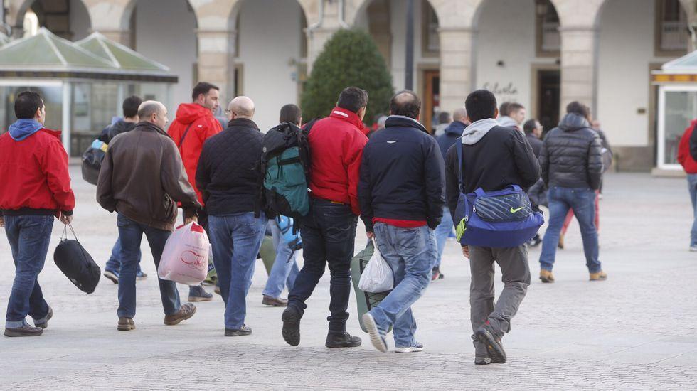 Encierro del cerco en A Coruña.