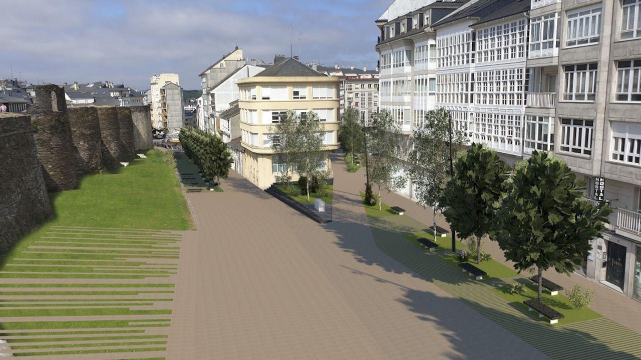 Reproducción de cómo quedará A Mosqueira cuando sea peatonal