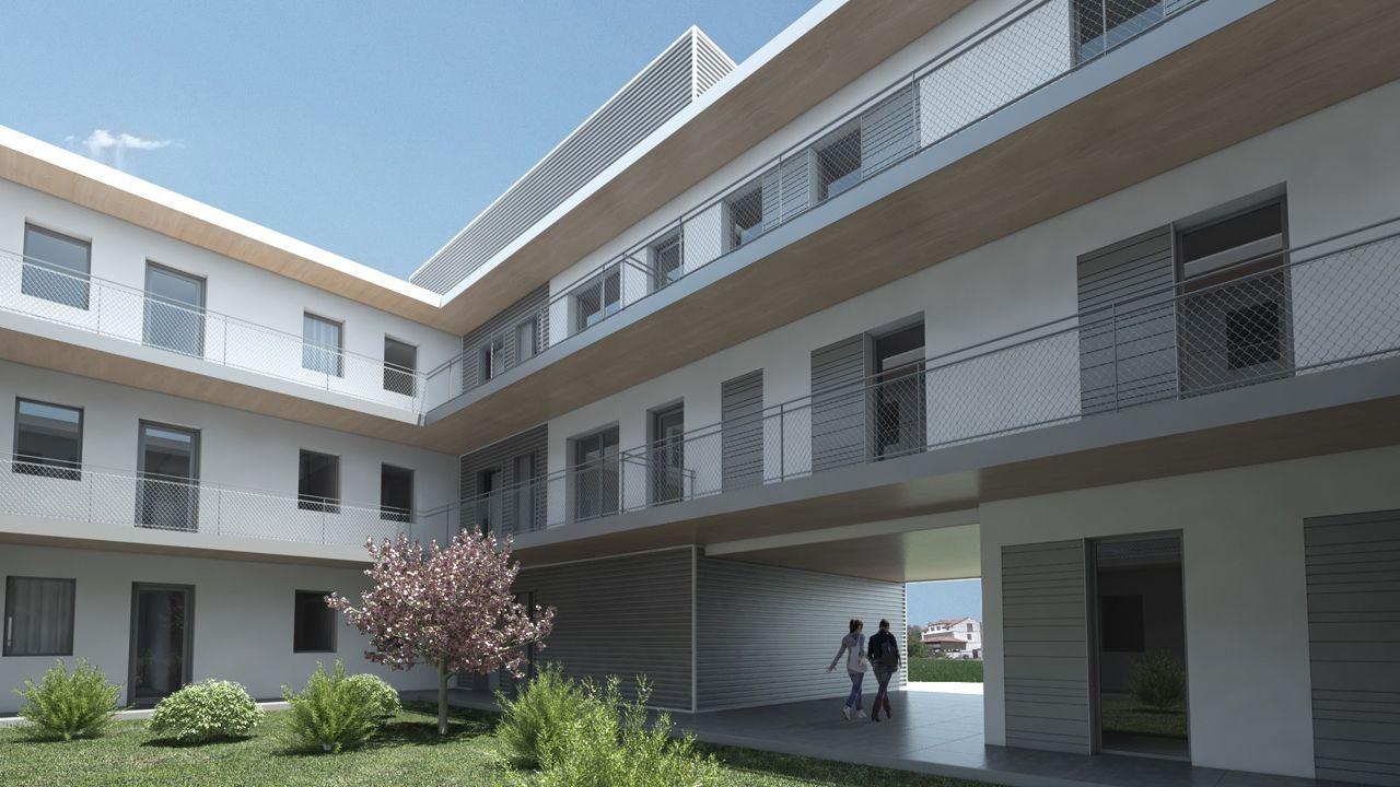 Una simulación de las futuras casas de Muros