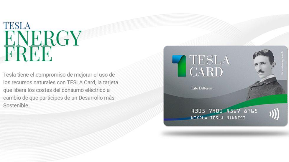 Captura de la página web de Tesla Energy Free