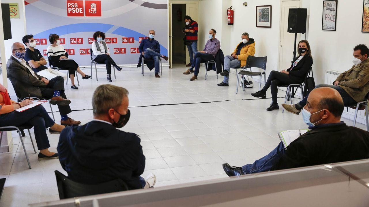 Reunión del PSOE sobre la moción de censura contra Jácome