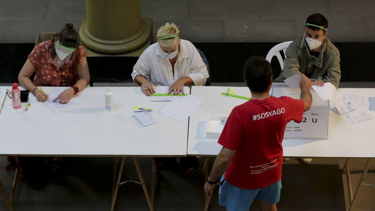 Asívotó A Coruña en las primeras elecciones poscovid