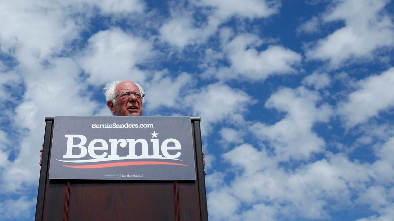 Bernie Sanders, el viernes en un mitin en Santa Ana, California