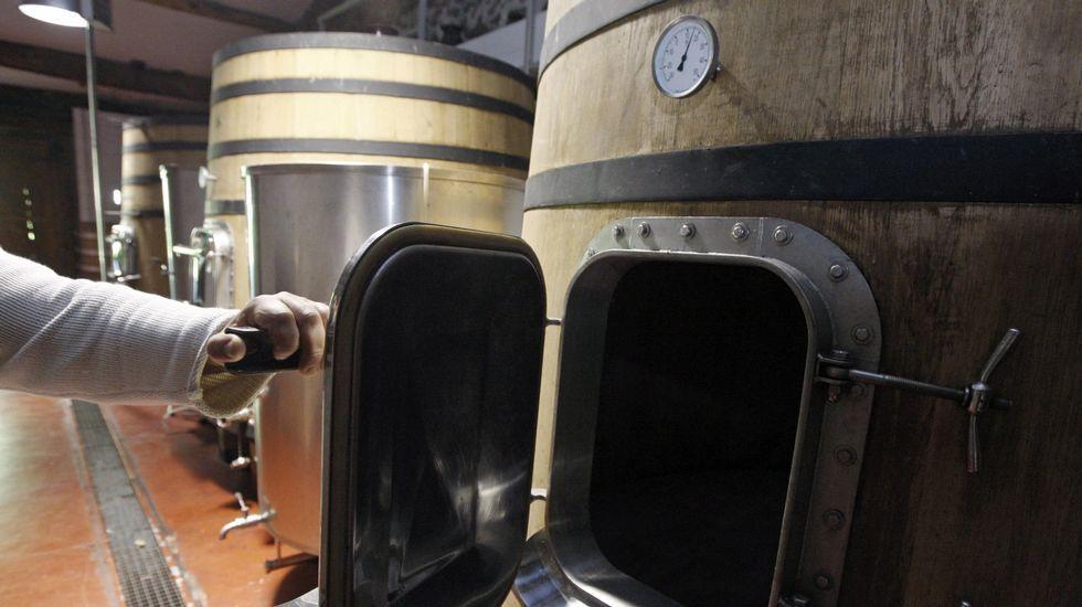 Depositos destinados a la fermentación en una bodega de Sober