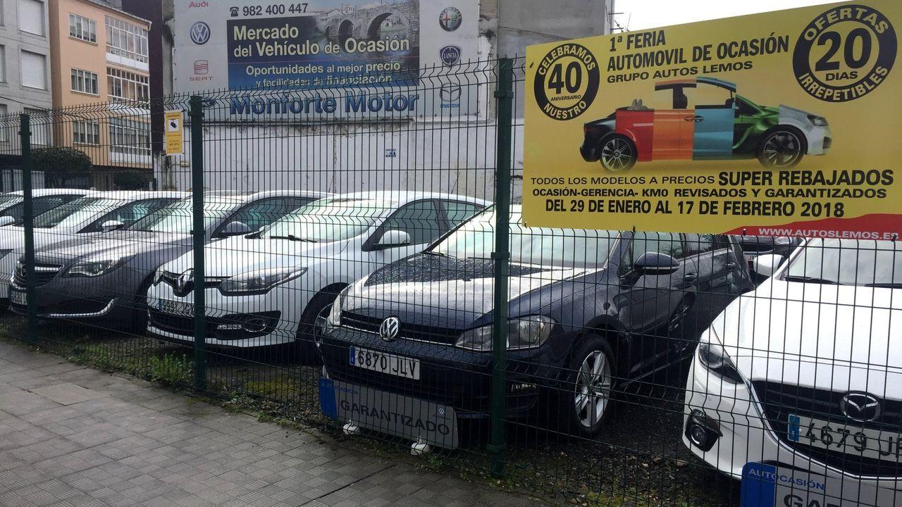 Una muestra del automóviles de ocasión en Monforte, en una imagen de archivo