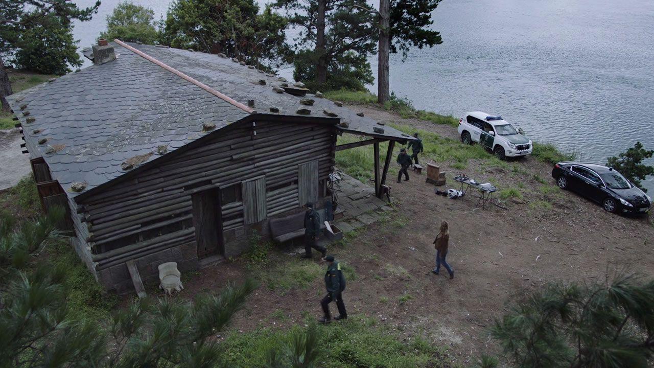 Cabaña de Sismundi (una parroquia de Cariño) donde se persigue a uno de los sospechosos