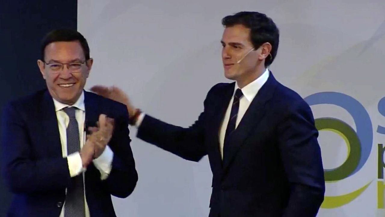 Vicente Gotor, Juan Vázquez,.Albert Rivera y Juan Vázquez