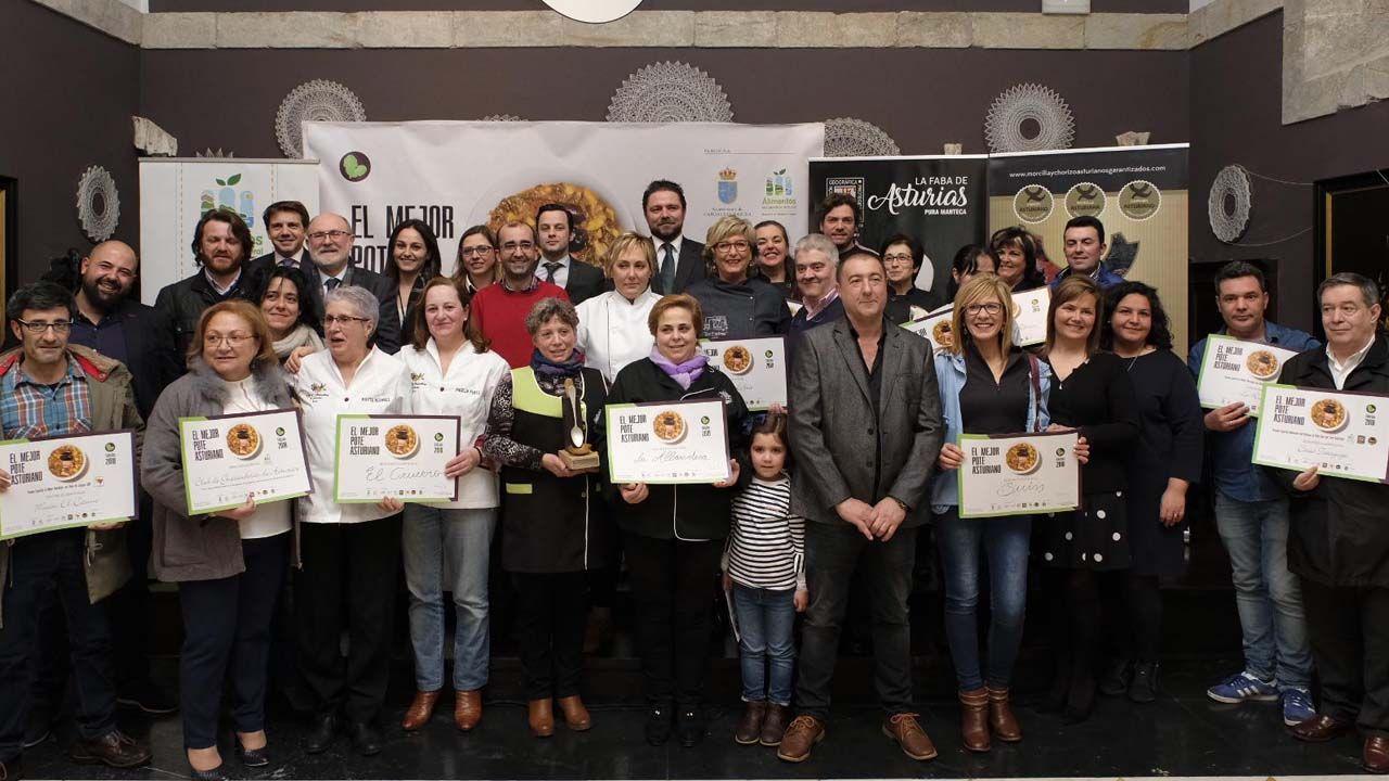 Finalistas del primer campeonato del Mejor pote asturiano
