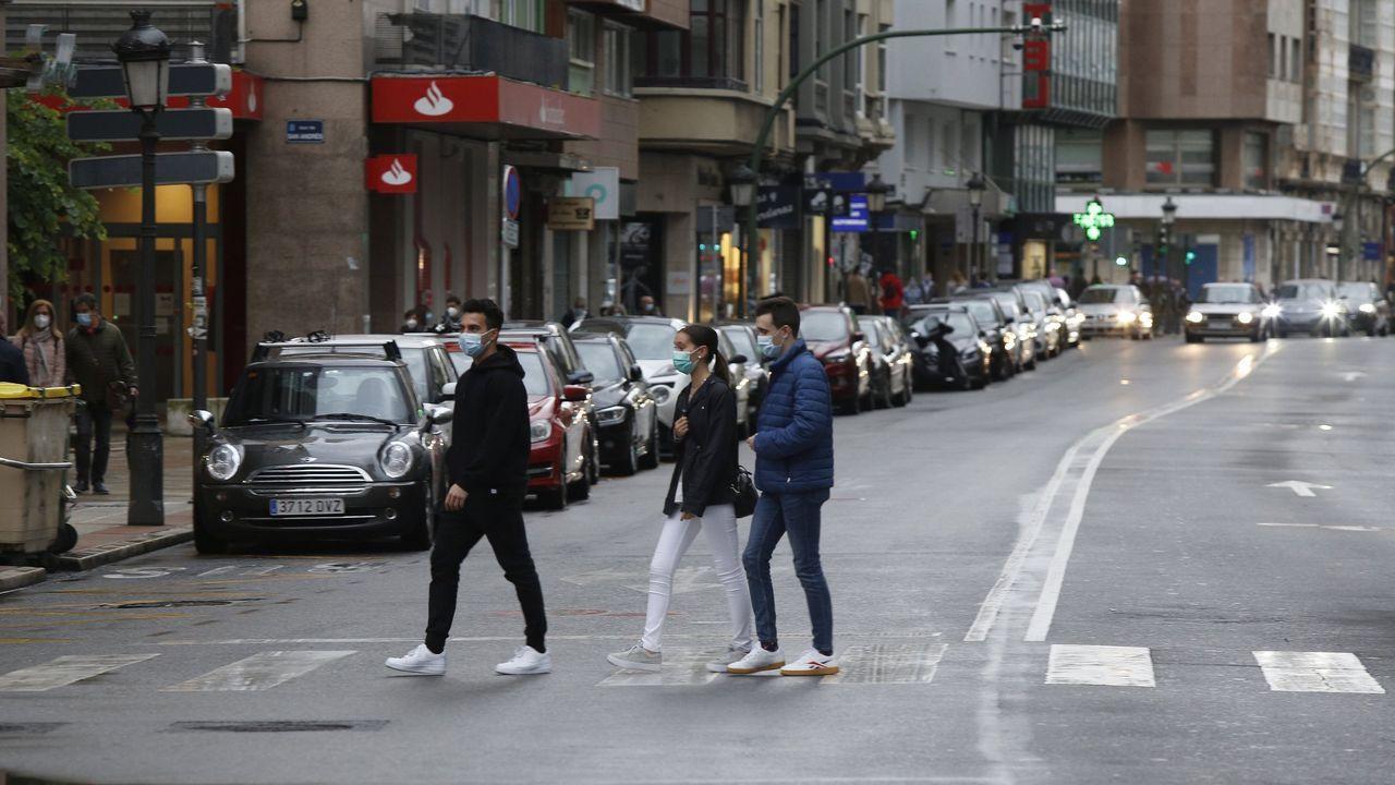 Calle San Andrés, en A Coruña