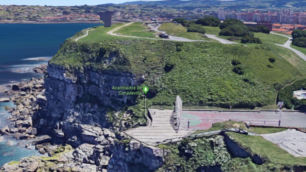 Vista general del acantilado de Cimavilla
