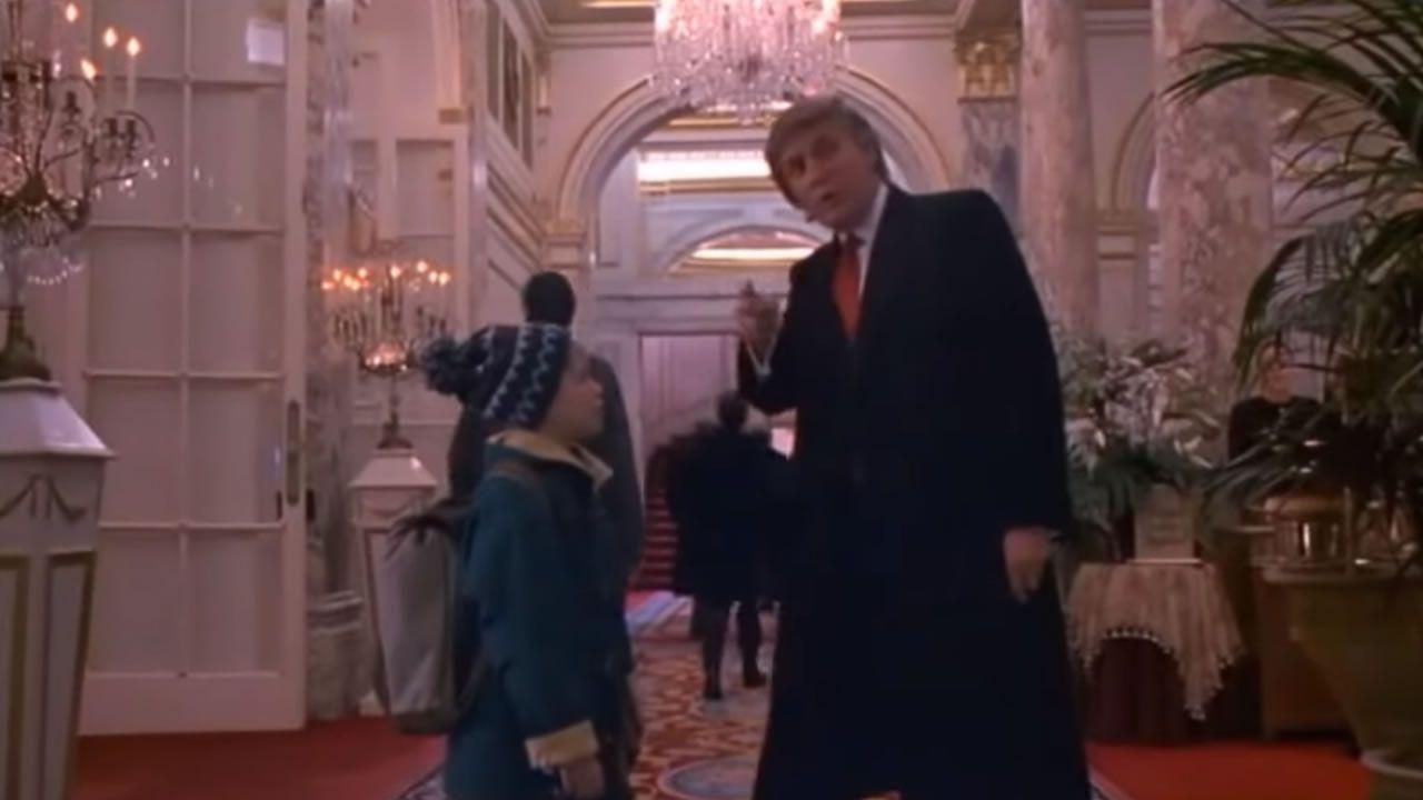Imagen de Donald Trump en su cameo en la película «Solo en casa»