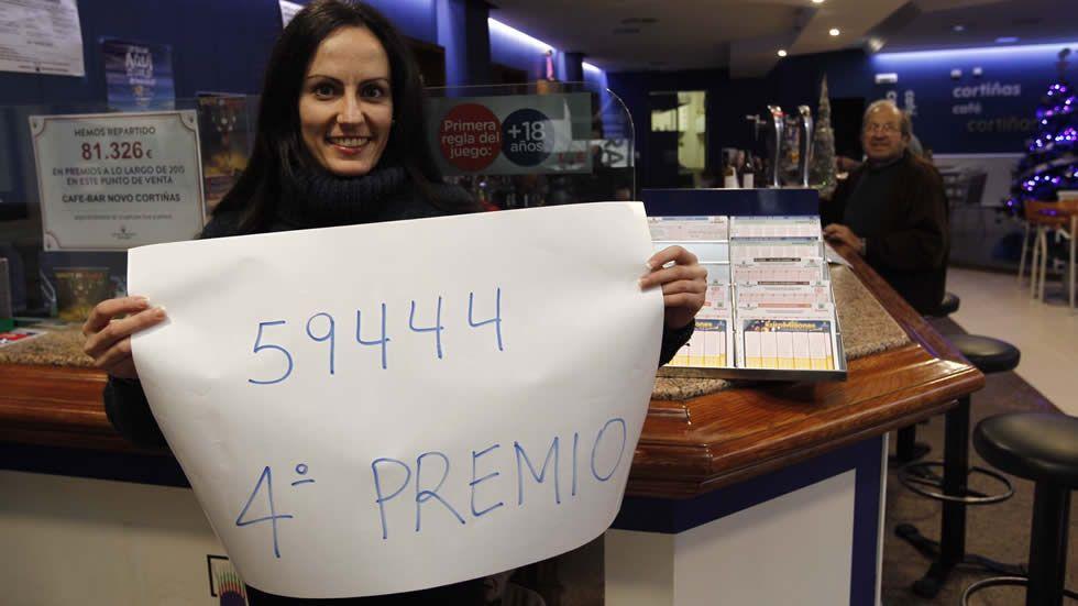 Sandra Pereira, del bar Cortiñas de Ponteareas