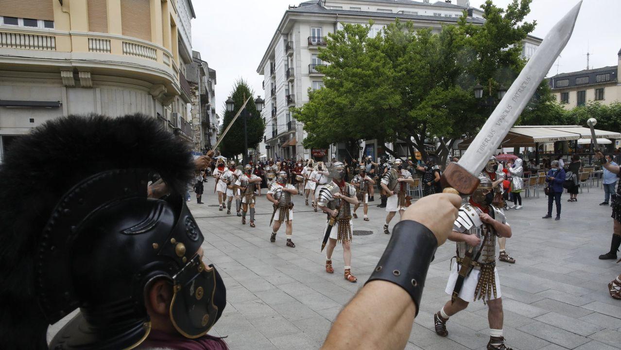 Un momento del desfile la Cohors y la Guardia Pretoriana celebrado este mes de junio