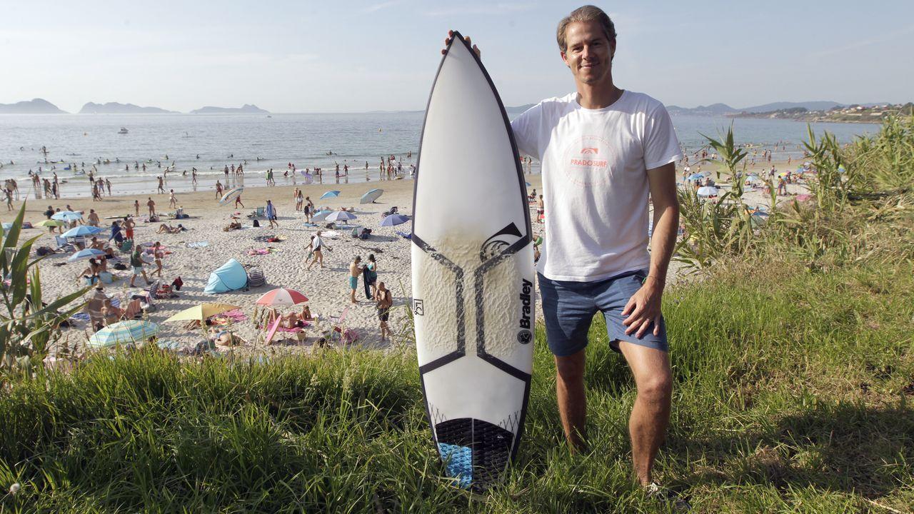 El Museo de Castrelos, desde dentro.Adrián Seoane, socio de PradoSurf Escola, lleva más de veinte años practicando surf en Patos