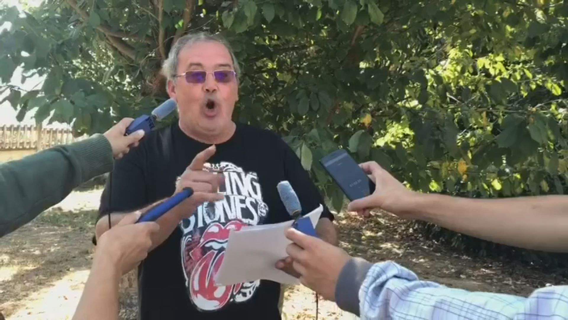 La parodia de Abel Caballero del alcalde de Portomarín.Estado ruinoso de una vivienda en la Ronda da Muralla, en Lugo