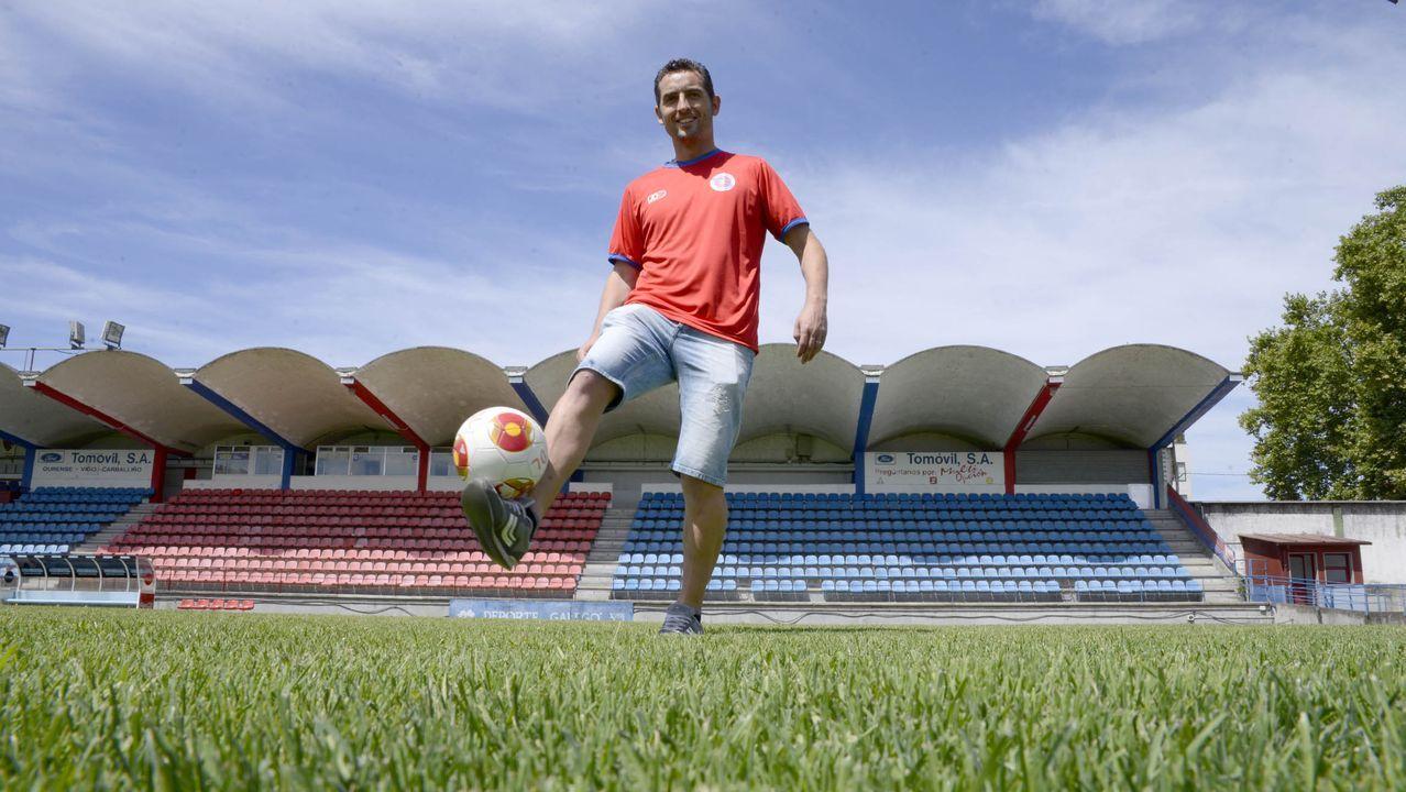 Rubén Durán, cuando fichó por la UD Ourense en el verano del 2016