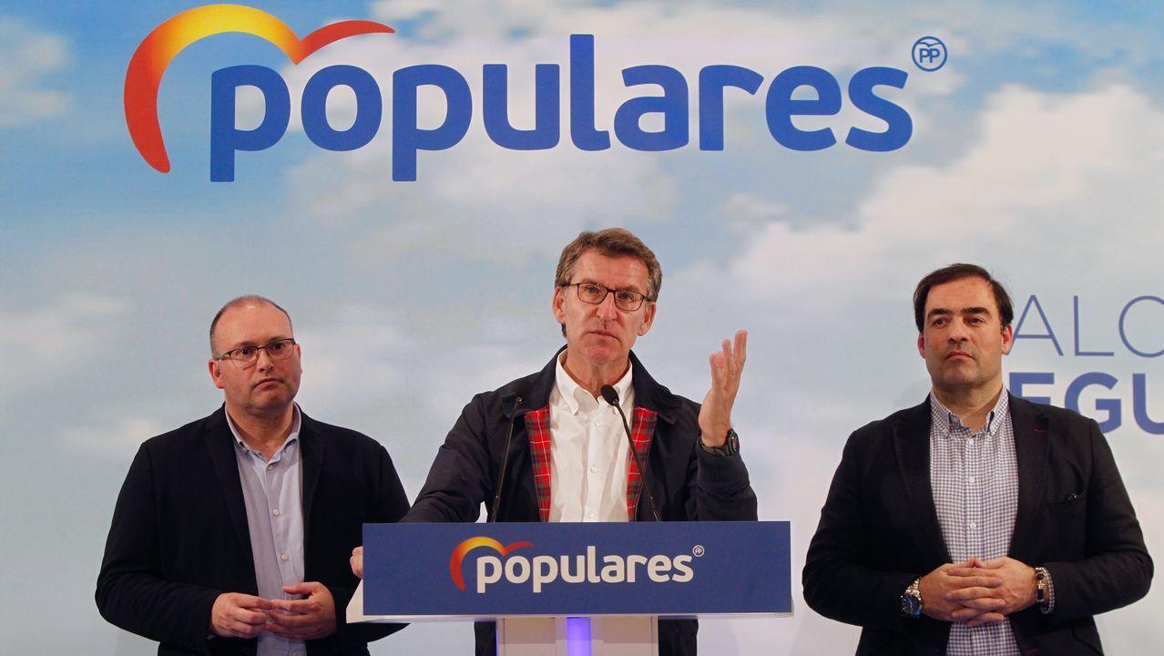 Así votaron los candidatos de Ferrolterra.Feijoo, durante la valoración de los resultados electorales por parte el PPdeG