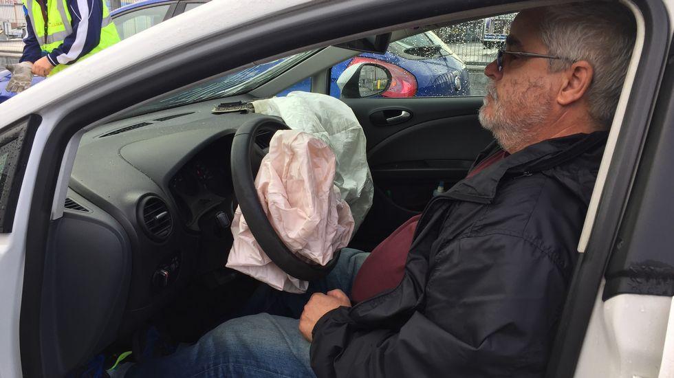 El airbag saltó debido al impacto sufrido en La Grela