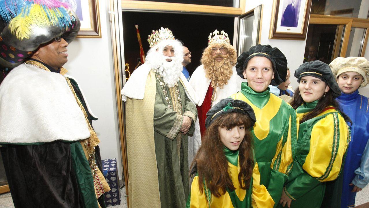 Recepción de los Reyes Magos en el Ayuntamiento de Monforte, en una imagen de archivo