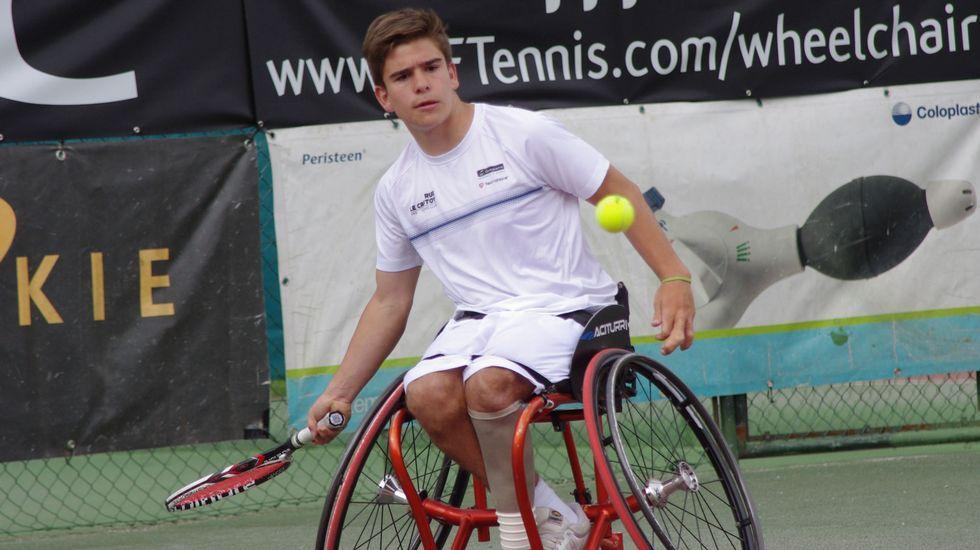 Martín de la Puente. Tenis en silla. Vivirá su primera experiencia olímpica con tan solo 17 años.