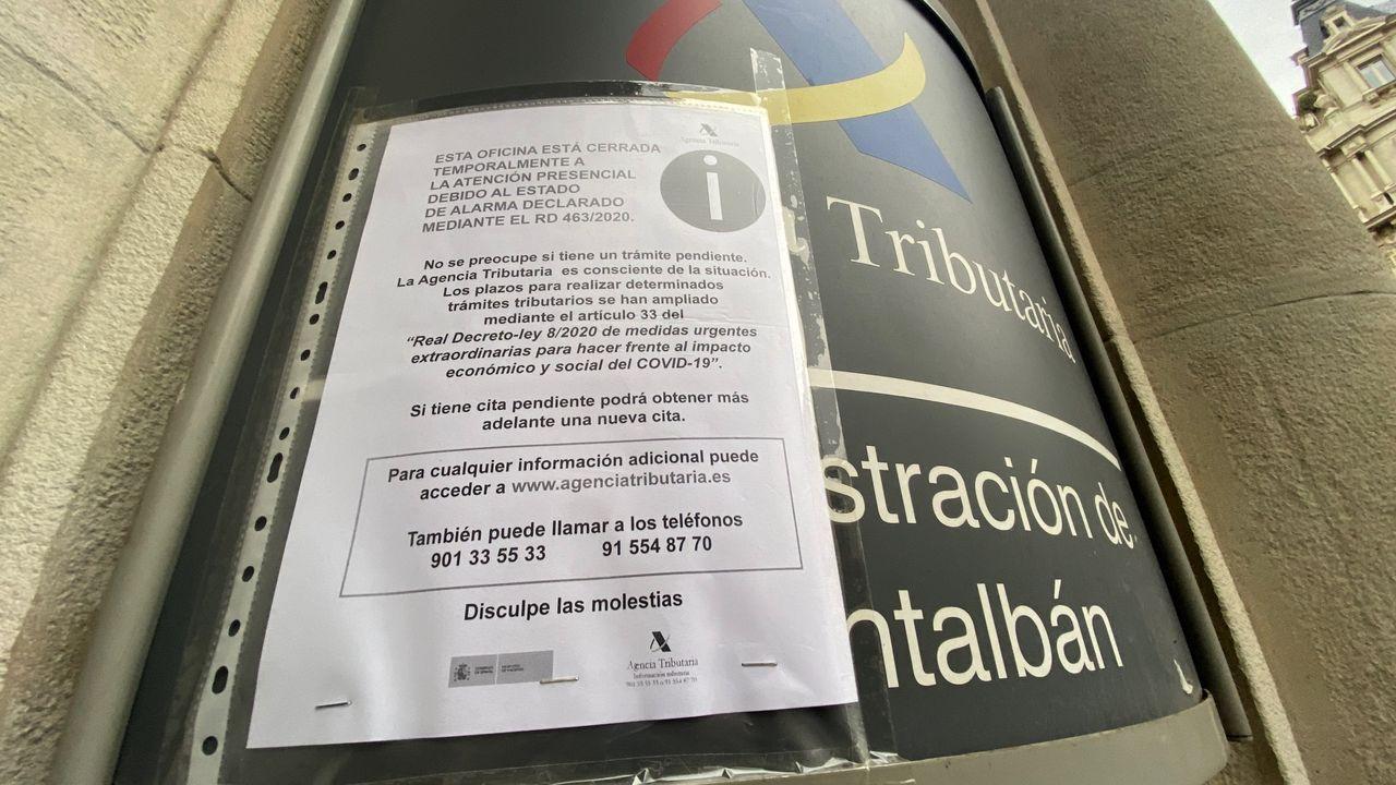Intervenidas cuatro toneladas de cocaína y detenidas 28 personas en un golpe al narcotráfico en Galicia.Una oficina de recaudación de la Agencia Tributaria