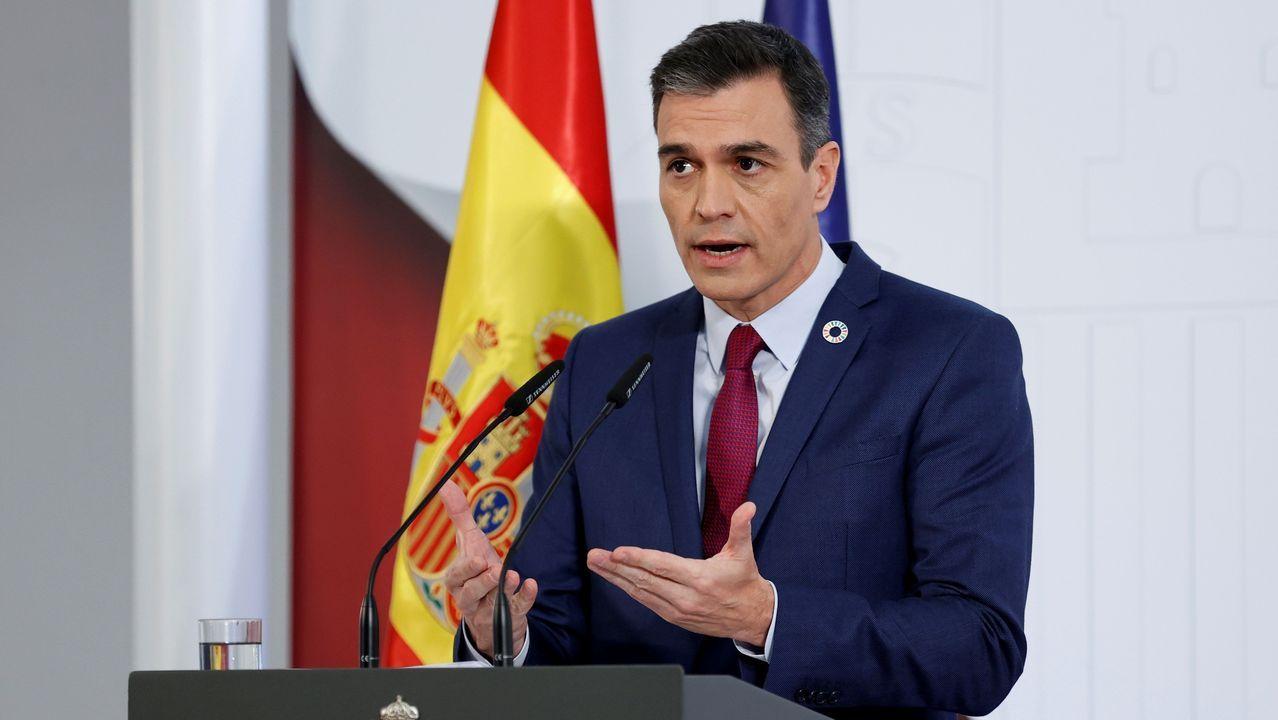 Pedro Sánchez hace una valoración del año 2020.Salvador Illa es secretario de organización del PSC