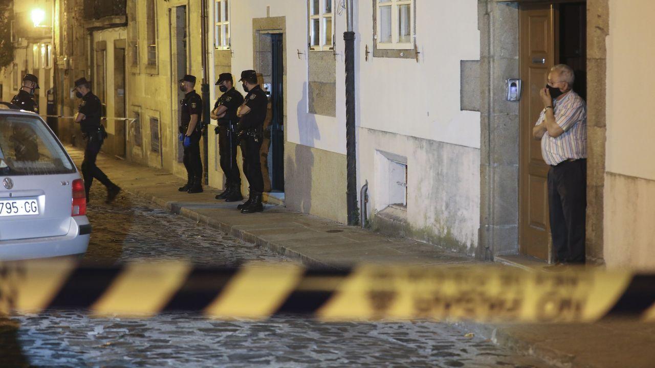 El suceso se produjo en la casa familiar de los Cepeda, en la calle Loureiros de Santiago