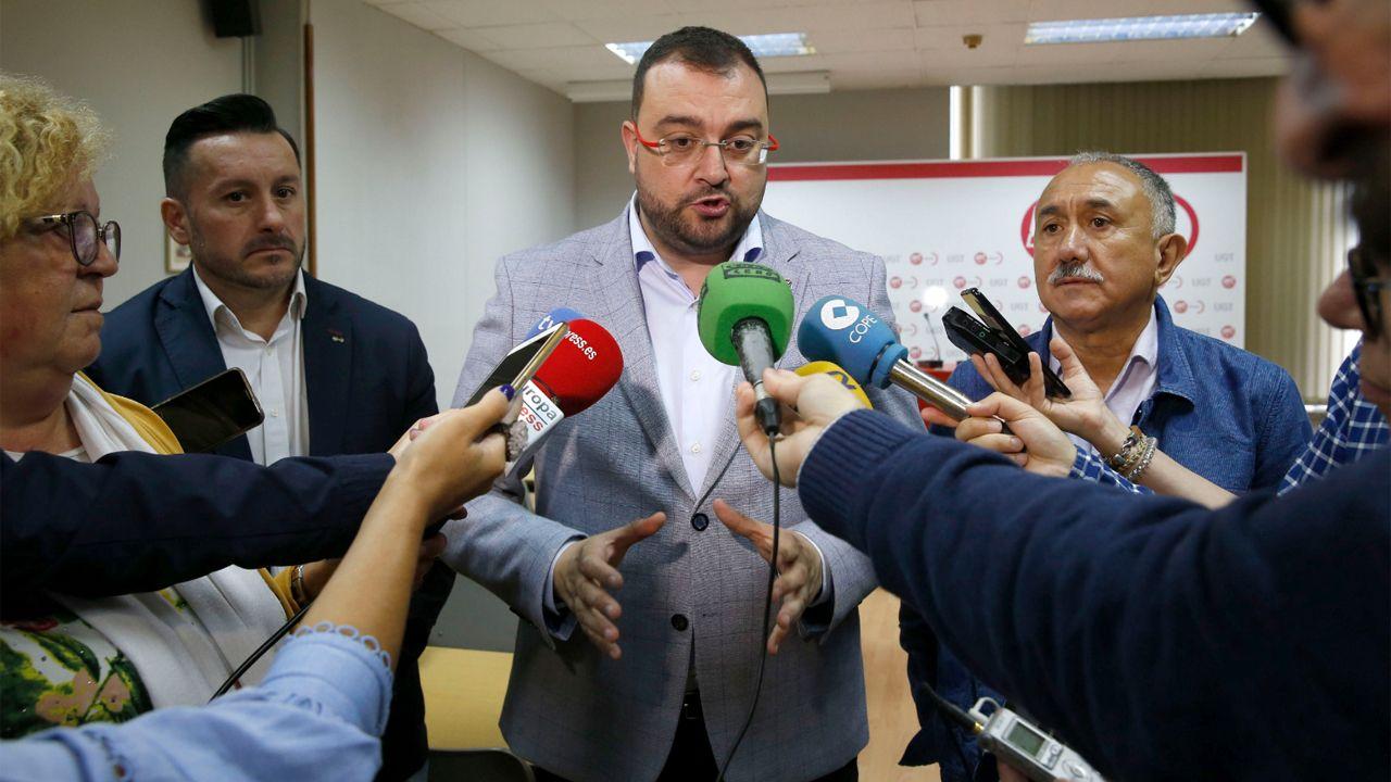 Javier Fernández Lanero, Adrián Barbón y Pepe Álvarez