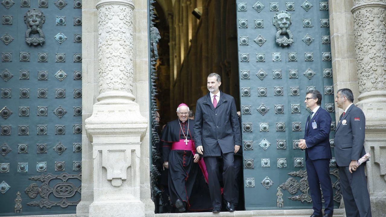 En octubre del 2018 volvió a la catedral de Santiago con motivo de la finalización de las obras de restauración de la fachada y las torres