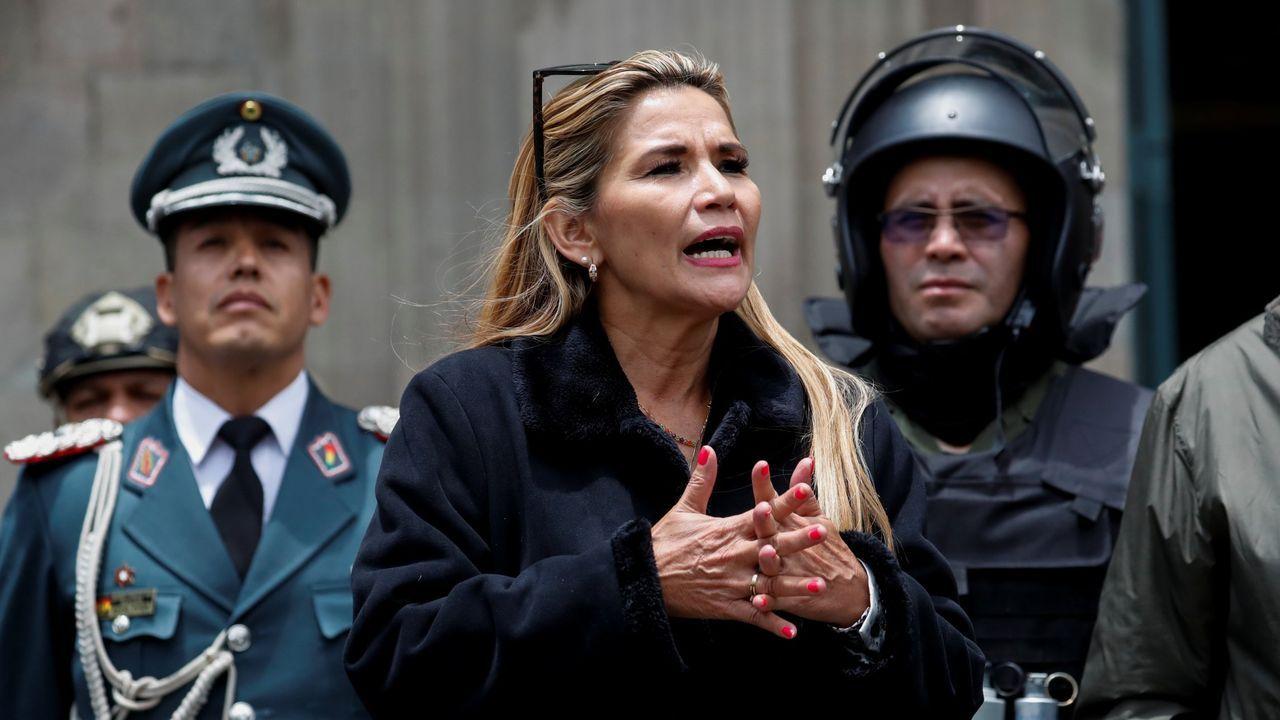 Xulio Ferreiro, durante su despedida en María Pita