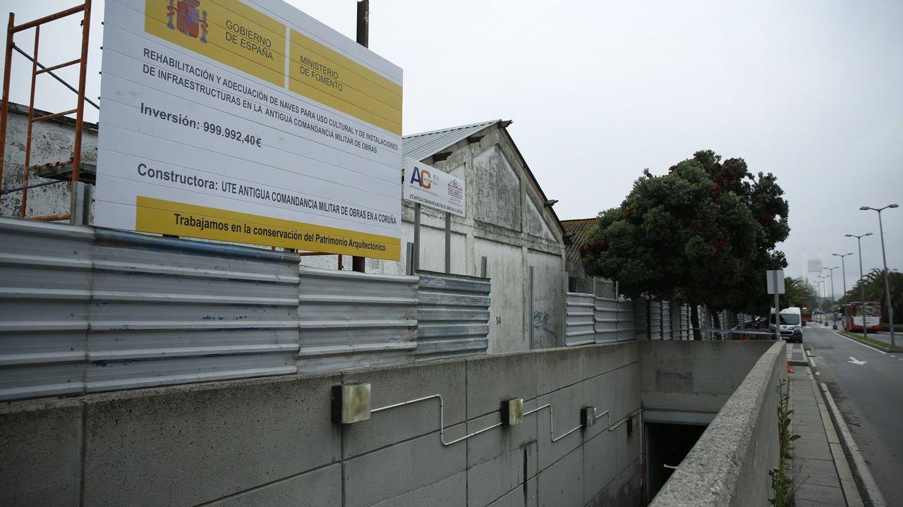 El antes y el después de los Cantones.Vista puerto zona San Diego Coruña
