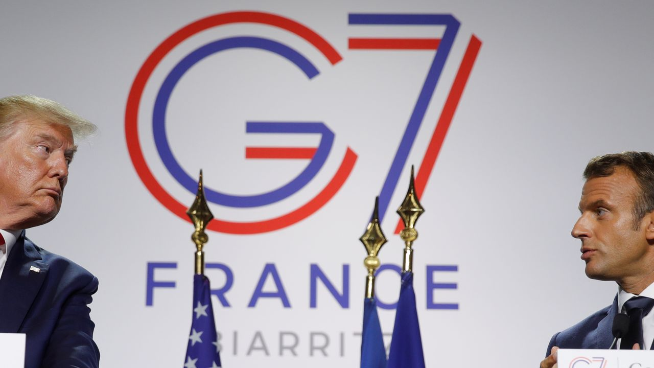 Trump y Macron cerraron la cumbre con una rueda de prensa conjunta