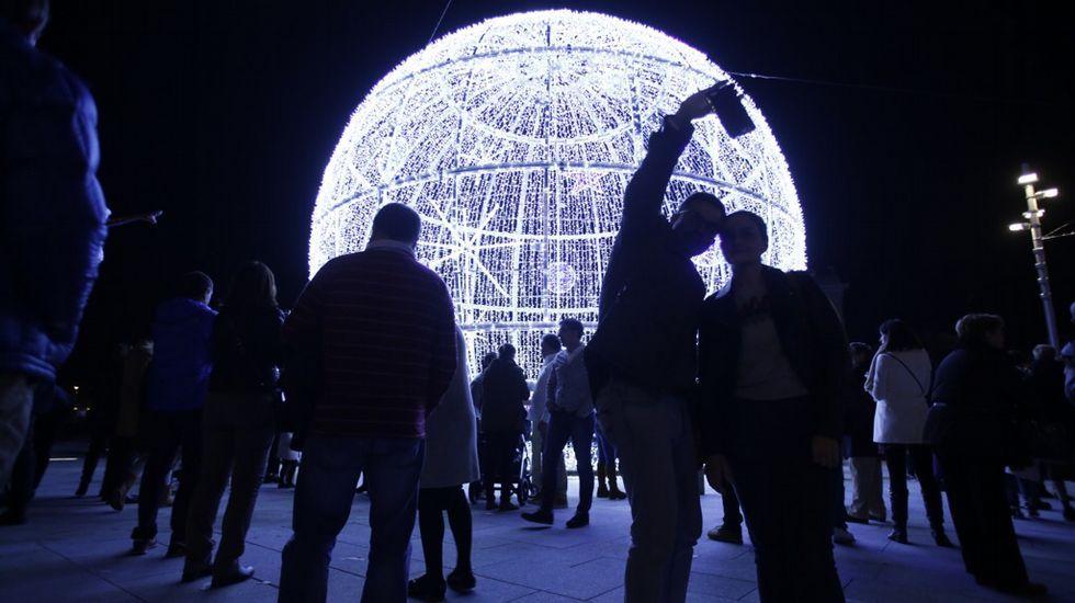 Luces de Navidad en A Coruña: La Marina