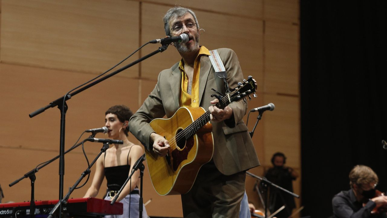 Xoel López, en un concierto en la ciudad de A Coruña