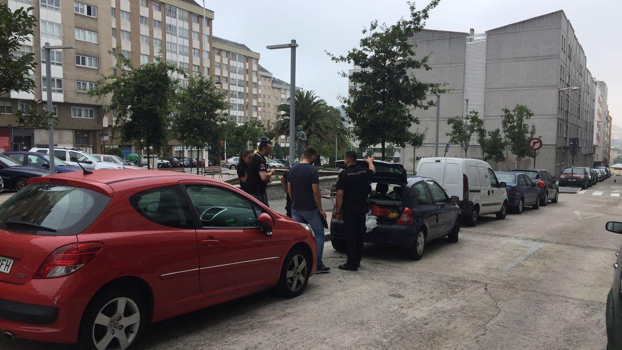 Atropello mortal en el cruce de la ronda de Nelle con la avenida Finisterre.Rayos sobre Ferrol