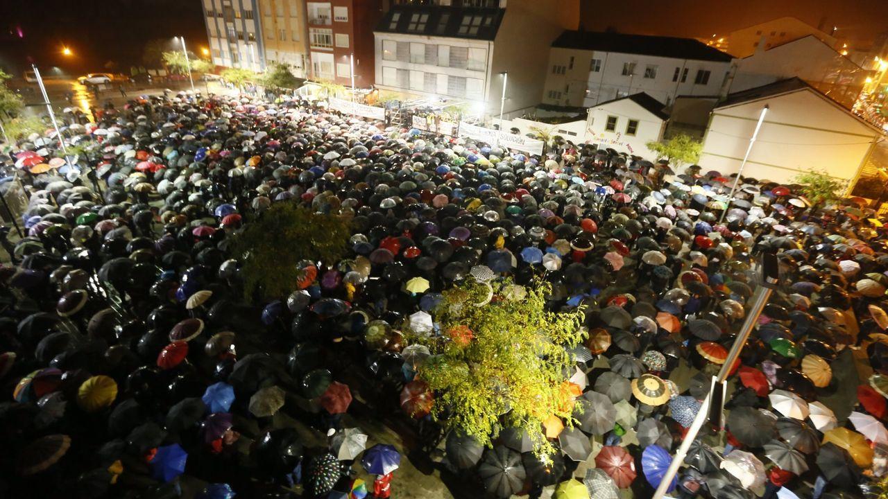 San Cibrao (Cervo) acogió en octubre una de las manifestaciones celebradas en la comarca por el mantenimiento del empleo y de la empresa Alcoa en A Mariña lucense