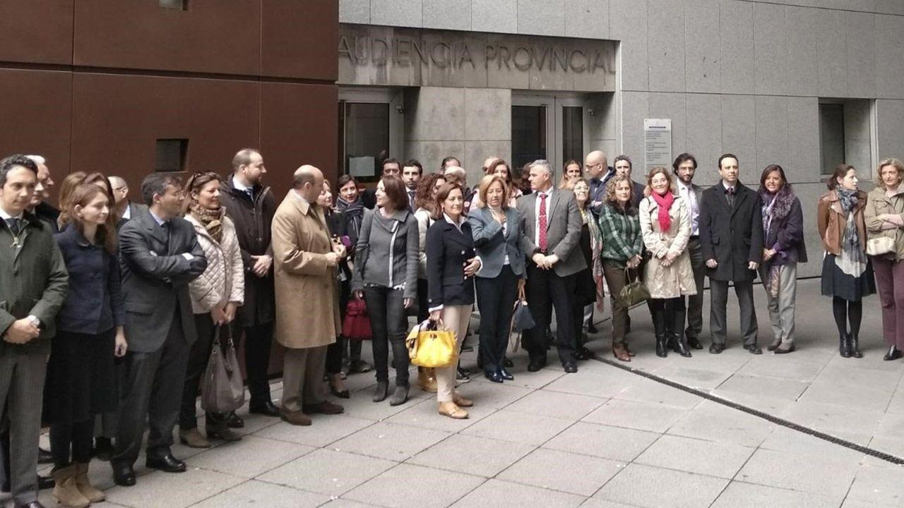 Manifestación del Primero de Mayo de 2018 en Asturias.Paro de fiscales y jueces